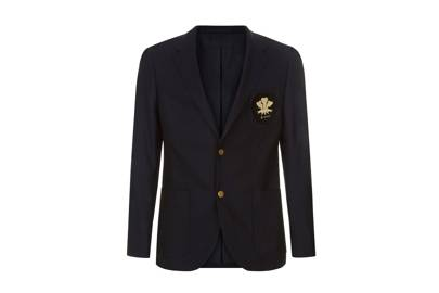 Kent & Curwen Wool Embroided Blazer