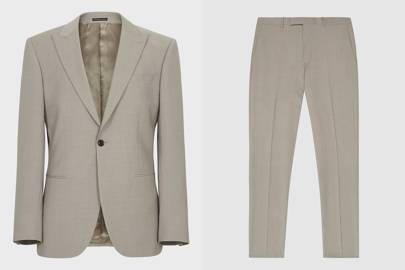 Textured Regular Fit Linen suit by Marks and Spencer