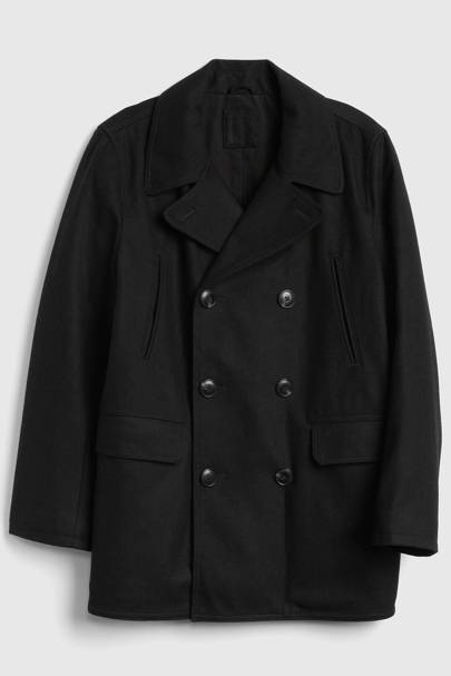 Wool-blend pea coat by Gap