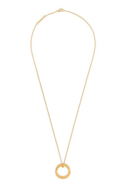 Balenciaga signature ring necklace