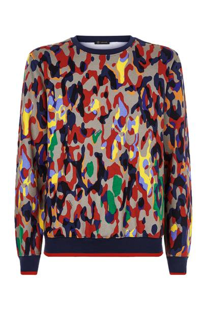 9. Camo print sweater by Versace