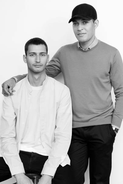 Band of Outsiders brand director Daniel Hettmann (left) and designer Angelo Van Mol (right).