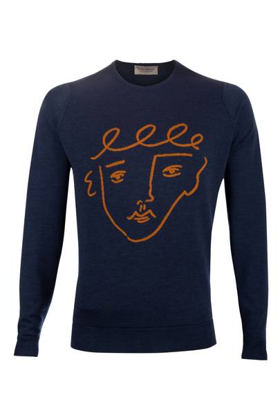 Crew neck jumper by John Smedley