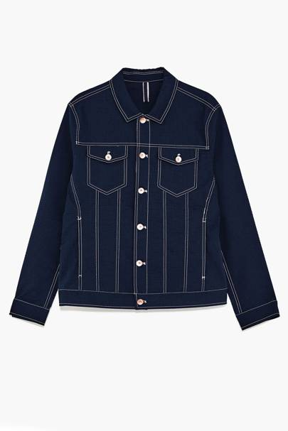 Zara denim seersucker jacket