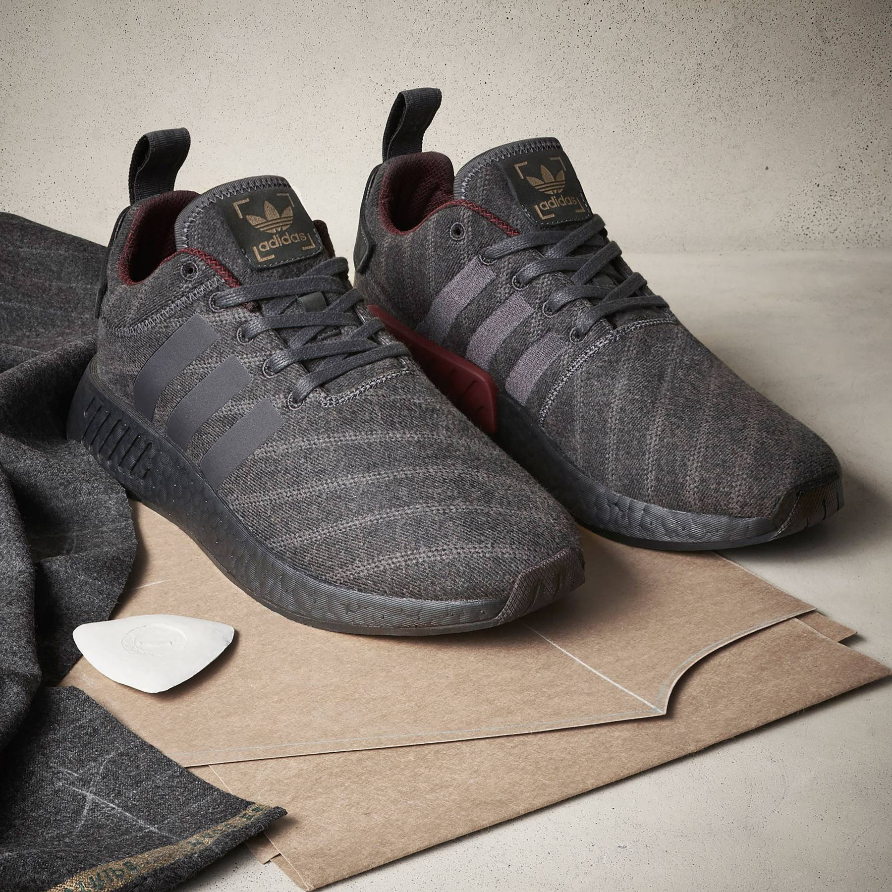 933304162 Adidas Originals x Henry Poole  Trainers with the Savile Row treatment