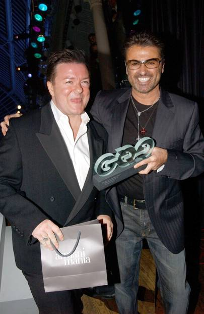 Ricky Gervais and George Michael