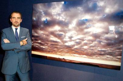 HRH Prince Nikolaos with his Soundwall artwork