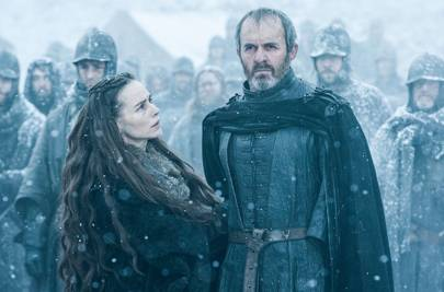 Tara Fitzgerald and Stephen Dillane as Selyse and Stannis Baratheon