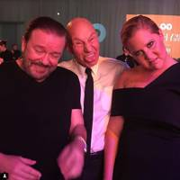 2016: Amy Schumer and Patrick Stewart
