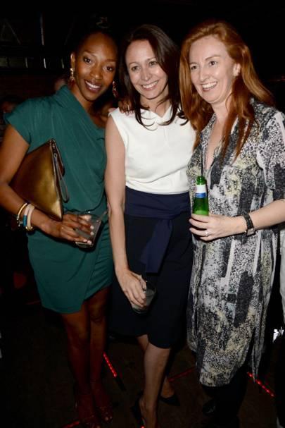 Vanessa Kingori and Caroline Rush with their Ciroc Vodka cocktails