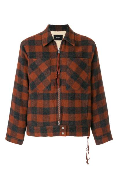 Checked shirt coat by Stampd