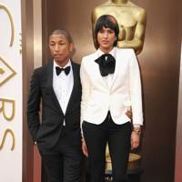 Pharrell Williams and Helen Lasichanh, 2014