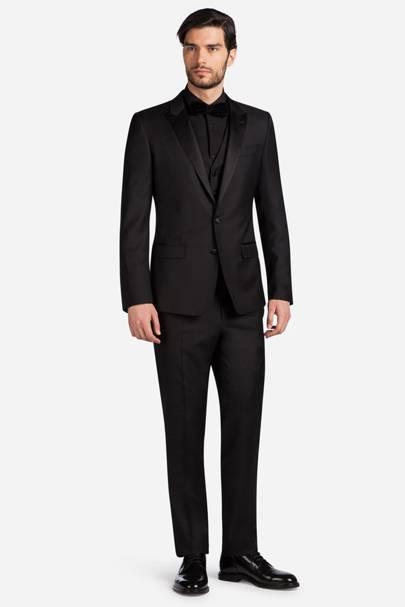 Black wool tuxedo by Dolce & Gabbana