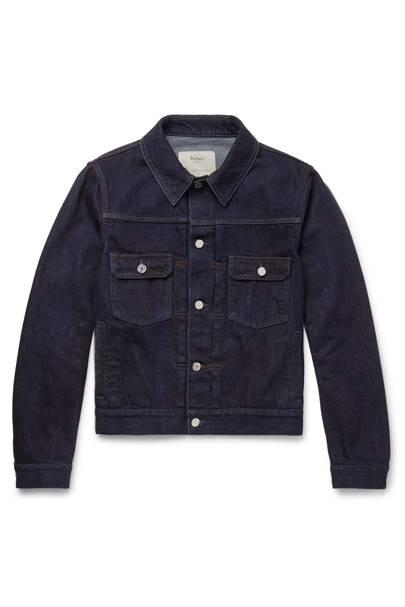 Slim-fit selvedge denim jacket by Berluti