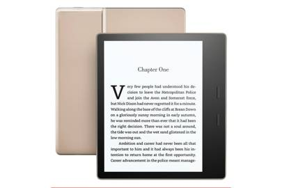 Kindle Oasis in champagne gold