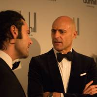 Aidan Turner and Mark Strong