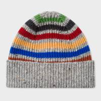 Donegal stripe beanie by Paul Smith