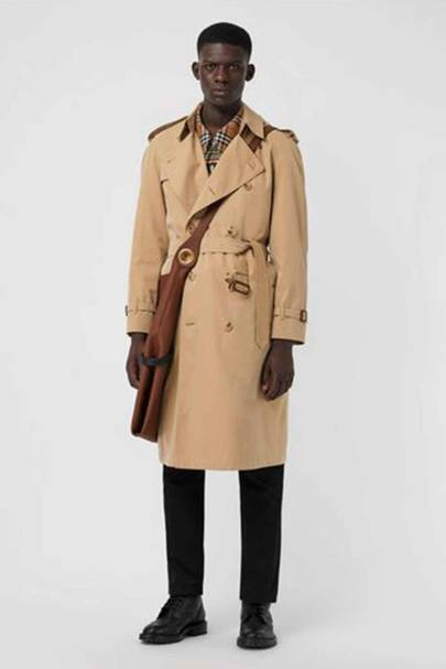 Slouchy trench coat