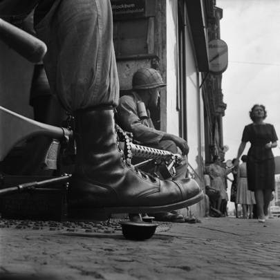 Near Checkpoint Charlie, Berlin 1961
