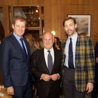 Alastair Campbell, Harvey Goldsmith and Patrick Grant