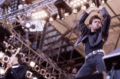 George Michael on stage at the last Wham gig.
