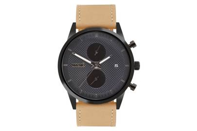 Stealth Traveller with Suede Strap by Malmo Timepieces