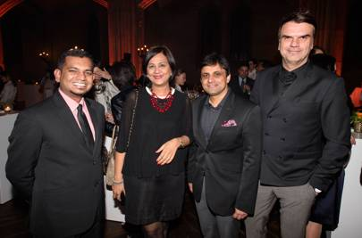 Varun Godinho, Almona Bhatia, Kapil Kapoor, Senior Advertising Manager, Conde Nast Traveller India and Andre Pollmann