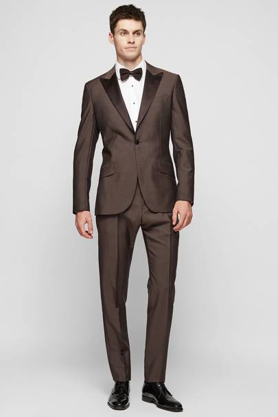 Brown tuxedo by Reiss