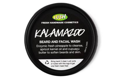 The face wash: Kalamazoo Beard And Facial Wash by Lush