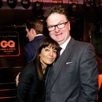 Claudia Winkleman and Ewan Venters