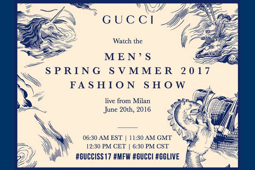 ae597a3d41f6 Watch the Gucci menswear S S  17 show live
