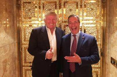 12 November 2016: Trump meets Nigel Farage