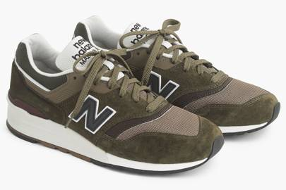 New Balance for J Crew 997 camo sneakers