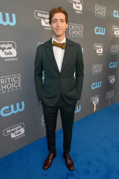 Thomas Middleditch in Ermenegildo Zegna Couture with Christian Louboutin shoes