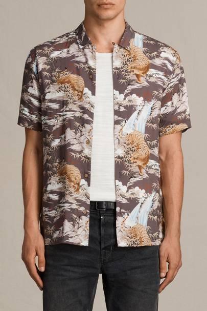 All Saints 'Sumatra' short-sleeve shirt