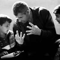 Ibraheem Alazam teaches math to his two sons – Ajloun, Jordan. April 2016