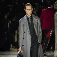 We really want a grey calfskin overcoat...