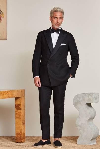 Bespoke Double Ted Linen Tuxedo By P Johnson Poa Pjt