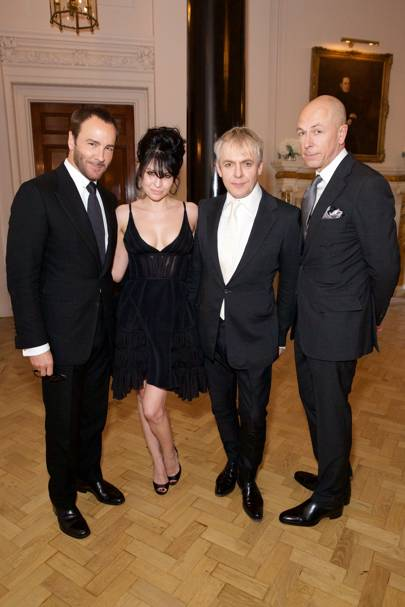 Tom Ford, Nefer Suvio, Nick Rhodes and Dylan Jones