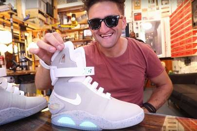 42b7070b4fd0 Casey Neistat tells you how to get auto-lacing Nike Mags for  10 ...