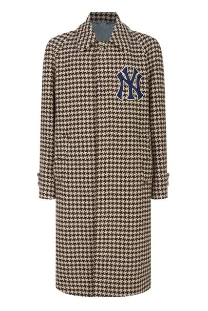 Houndstooth NY Yankees Coat by Gucci