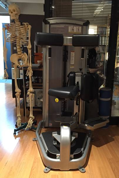 Cybex equipment designed for abs exercises