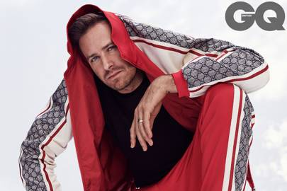 fe0e7bc1269 Armie Hammer is still the master of the tracksuit