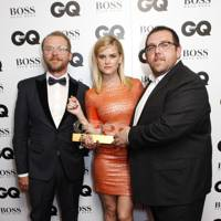 Simon Pegg, Alice Eve and Nick Frost