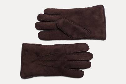 Shearling lined gloves by Hackett