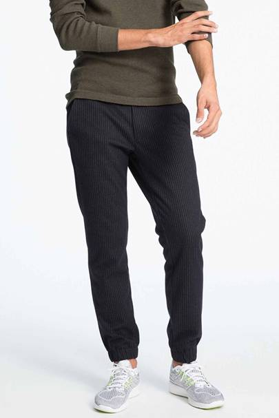 Uniqlo striped smart joggers