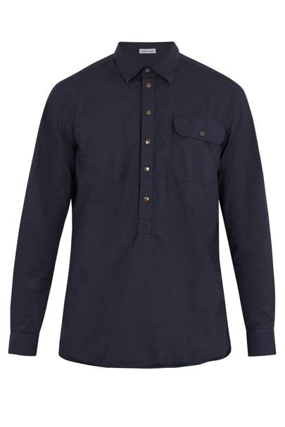 Tomas Maier patch pocket cotton jacket