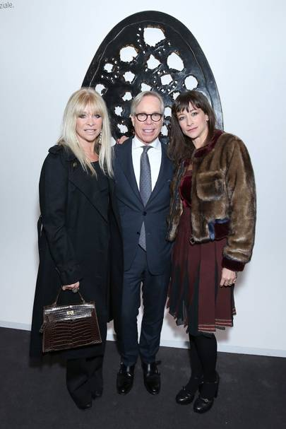 Jo Wood, Tommy Hilfiger and Leah Wood