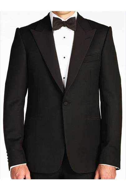 Handmade classic black dinner suit by Gieves & Hawkes
