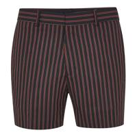 Red-and-navy striped shorts by Topman